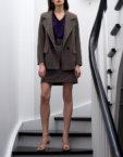 Юбка клеш с асимметричной складкой SHKO_17042005, фото 3 - в интеренет магазине KAPSULA