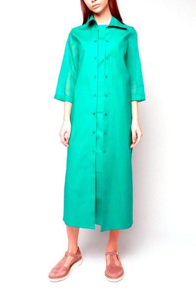 Платье рубашка INS_SS1801_7, фото 5 - в интеренет магазине KAPSULA