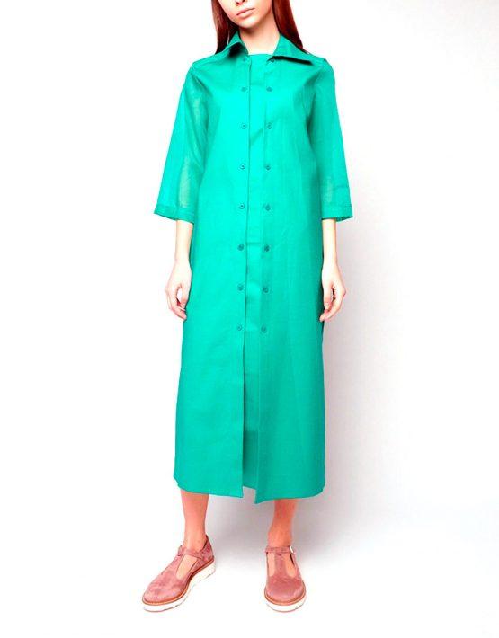 Платье рубашка INS_SS1801_7_outlet, фото 5 - в интеренет магазине KAPSULA