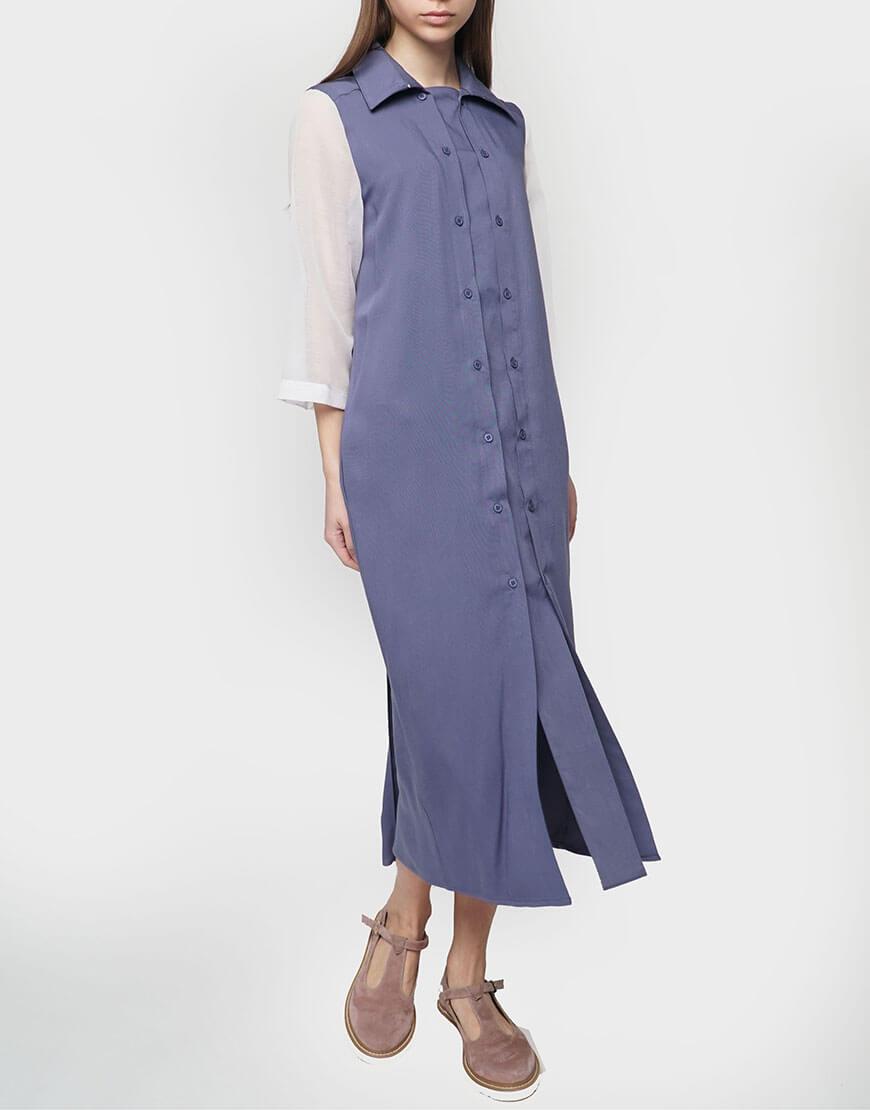 Платье рубашка из тонкого штапеля
