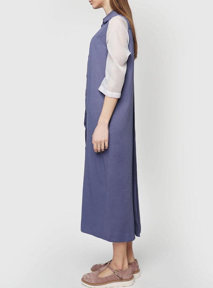 Платье рубашка из тонкого штапеля INS_SS1801_9_outlet, фото 1 - в интернет магазине KAPSULA