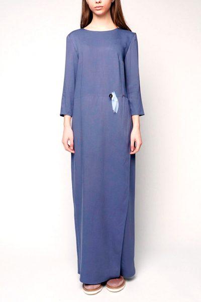 Платье макси из штапеля INS_SS1802_9, фото 3 - в интеренет магазине KAPSULA