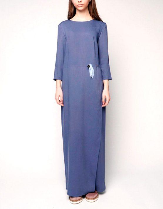 Платье макси из штапеля INS_SS1802_9_outlet, фото 6 - в интеренет магазине KAPSULA