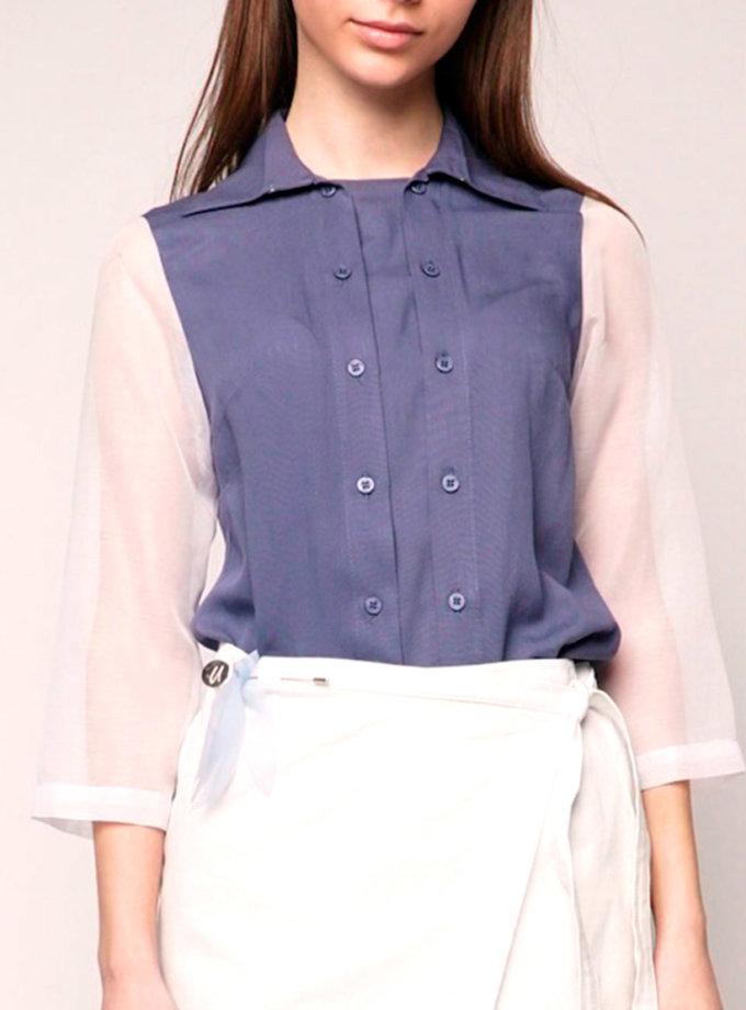 Рубашка из полупрозрачной ткани INS_SS1807_9_outlet, фото 1 - в интернет магазине KAPSULA