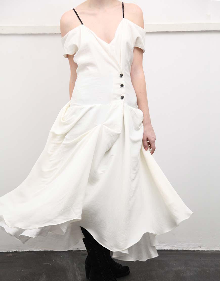 Платье Prima white на шнуровке