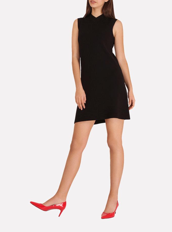 Вязаное платье-мини А-силуэта. JND_16-140601_1, фото 1 - в интернет магазине KAPSULA