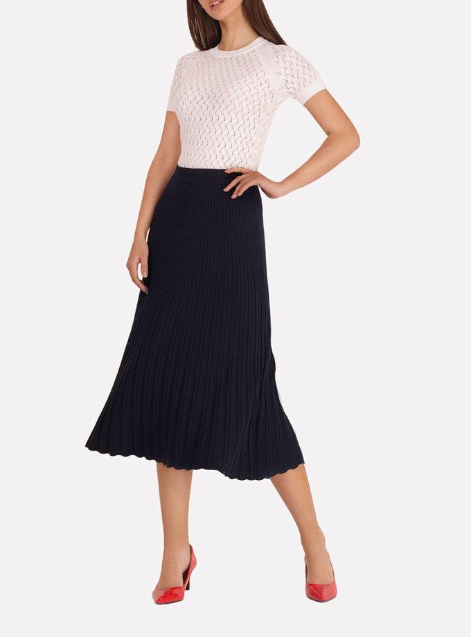 Вязаная плиссированная юбка-макси JND_18-140503, фото 1 - в интеренет магазине KAPSULA