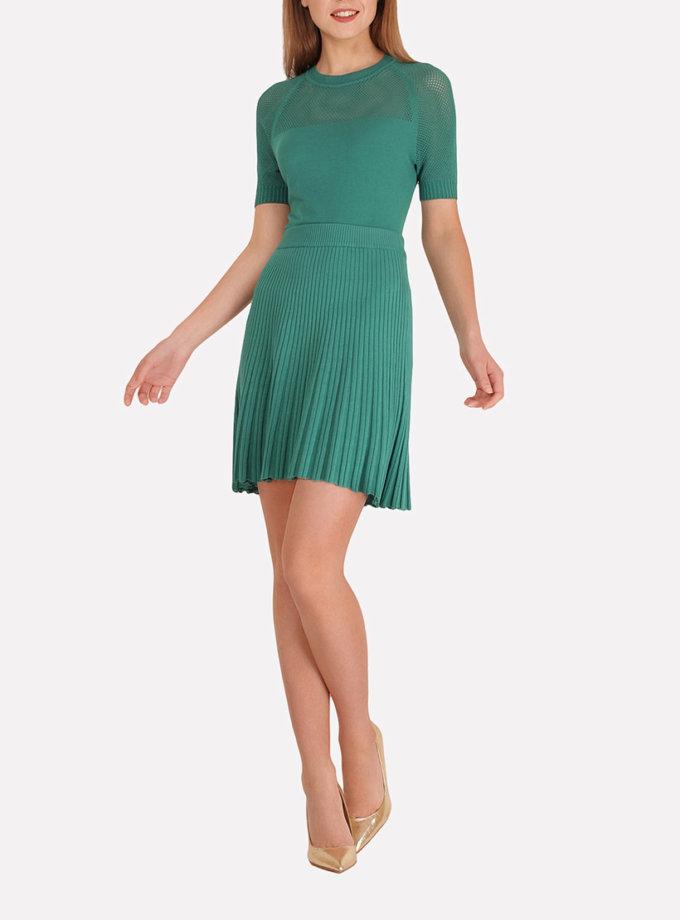 Легкая вязаная юбка плиссе JND_18-140504_1, фото 1 - в интеренет магазине KAPSULA