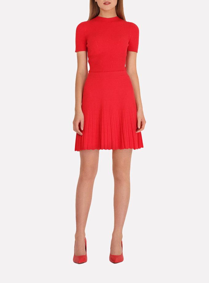 Легкая вязаная юбка плиссе JND_18-140504_4, фото 1 - в интернет магазине KAPSULA