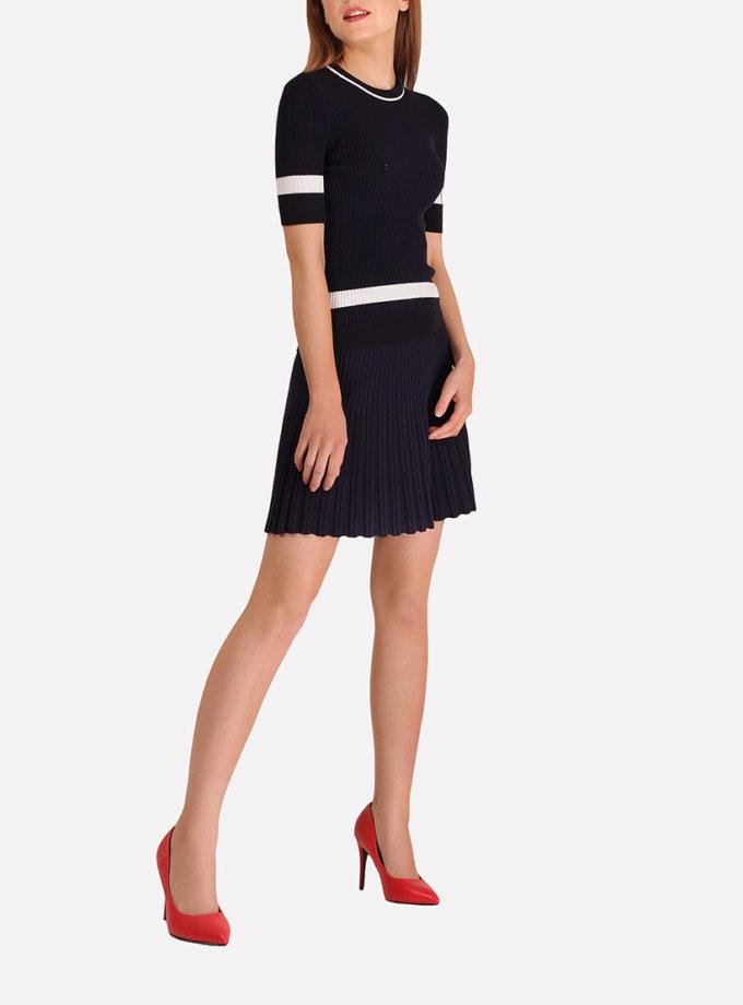 Легкая вязаная юбка плиссе JND_18-140504_2, фото 1 - в интеренет магазине KAPSULA