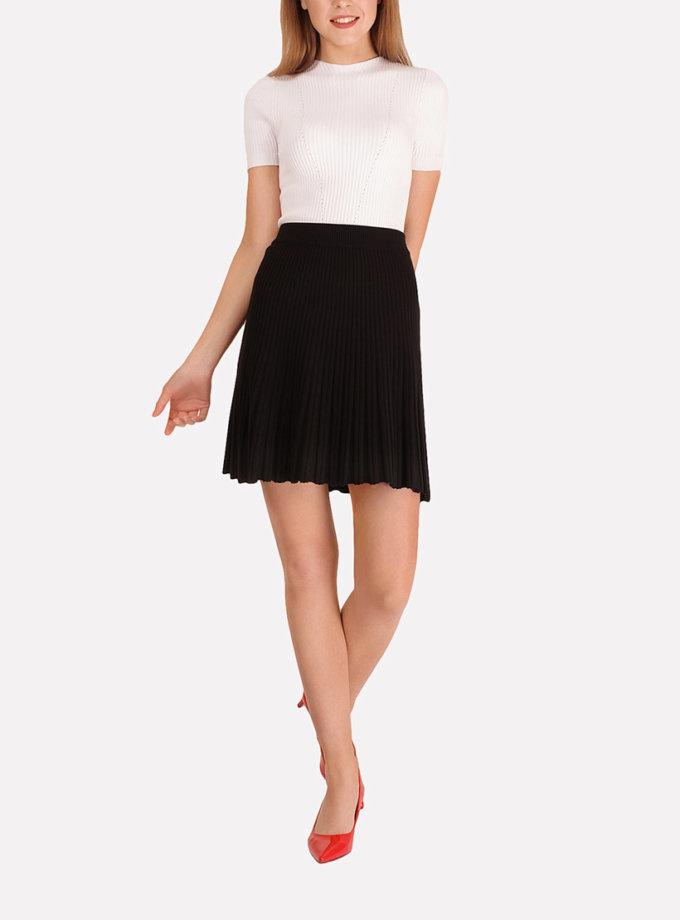 Легкая вязаная юбка плиссе JND_18-140504_3, фото 1 - в интеренет магазине KAPSULA