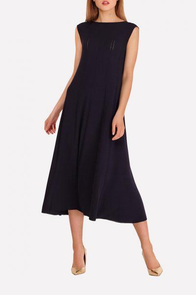 Бесшовное вязаное платье JND_18-140607_2, фото 1 - в интеренет магазине KAPSULA