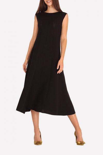 Бесшовное вязаное платье JND_18-140607_1, фото 5 - в интеренет магазине KAPSULA