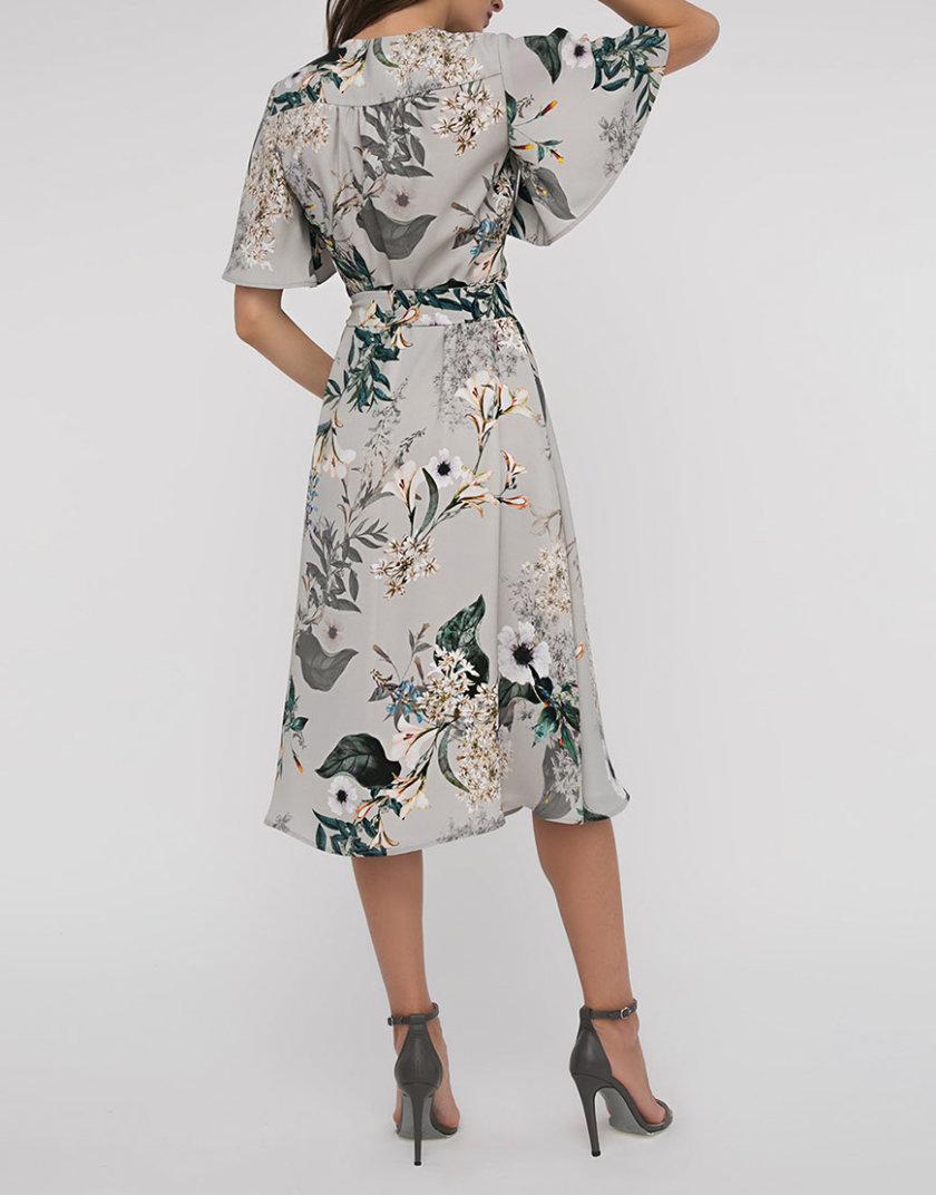 Платье принт с V вырезом SHKO_16017012_outlet, фото 1 - в интернет магазине KAPSULA