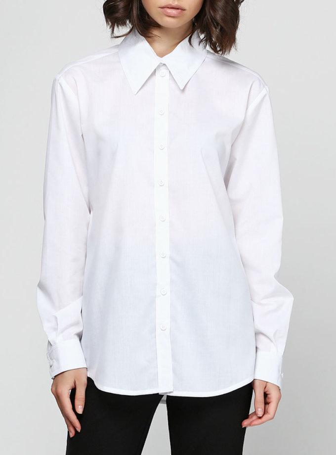Рубашка прямого силуэта удлиненная AY_2318, фото 1 - в интернет магазине KAPSULA