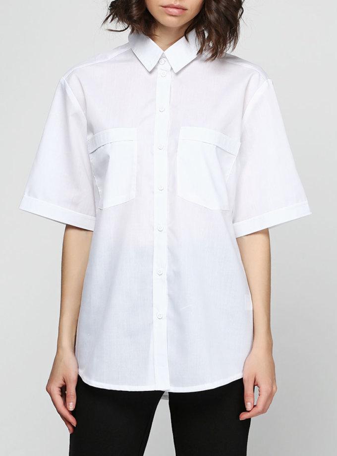 Рубашка в стиле 50-х с коротким рукавом AY_2320, фото 1 - в интернет магазине KAPSULA