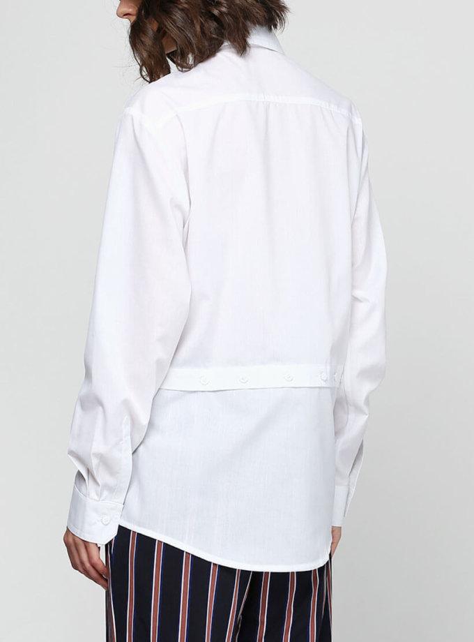 Рубашка с отрезной линией по низу AY_2322, фото 1 - в интернет магазине KAPSULA