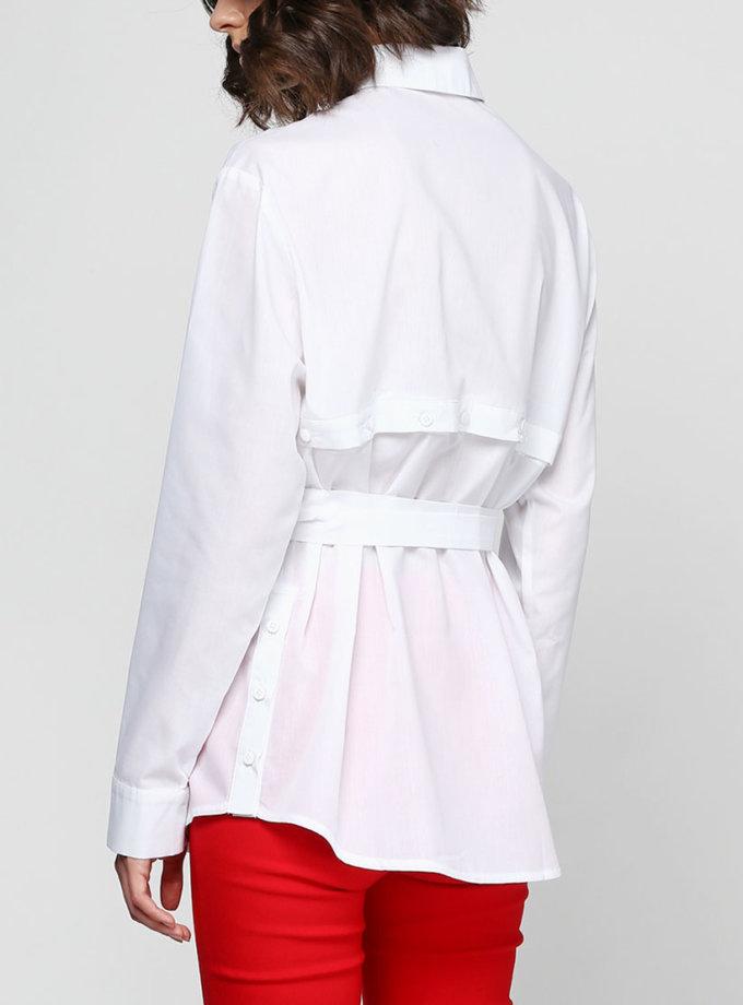 Рубашка под пояс с кокеткой на спине AY_2323, фото 1 - в интернет магазине KAPSULA