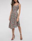 Платье принт с V вырезом SHKO_16017012, фото 4 - в интеренет магазине KAPSULA
