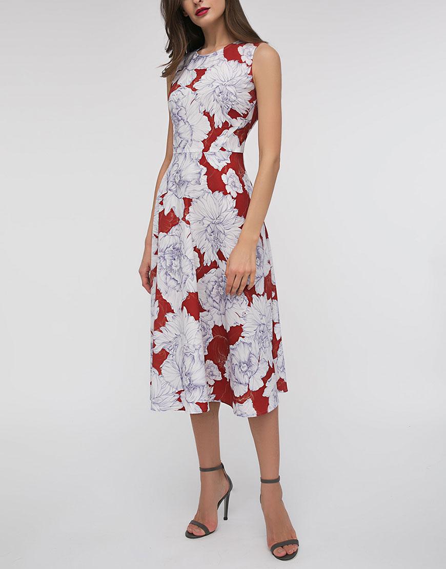 Легкое платье в принт