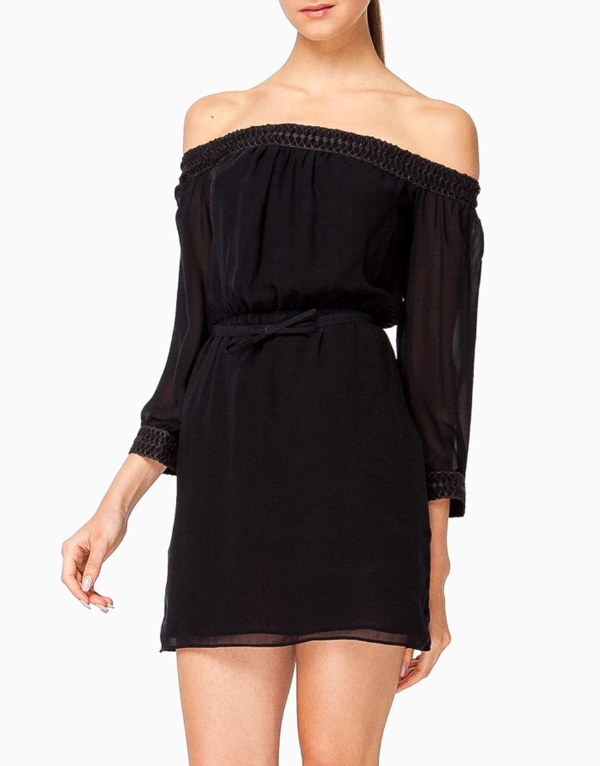 Платье мини с открытыми плечами
