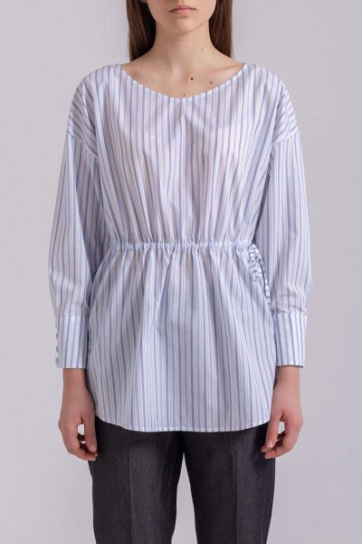 Блуза свободного кроя на кулиске PPMT_PM-38_strip, фото 1 - в интеренет магазине KAPSULA