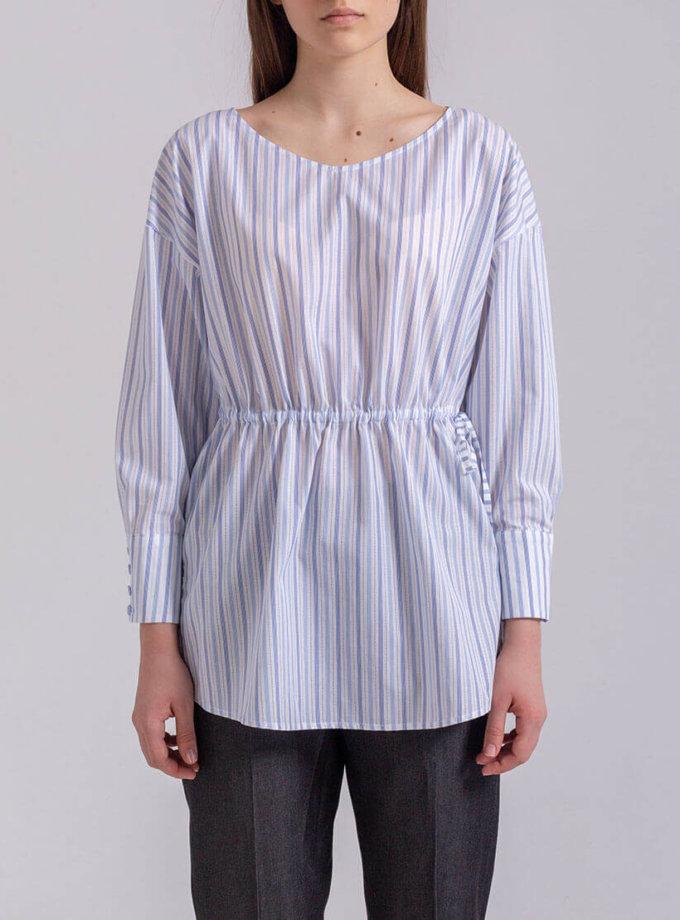 Блуза свободного кроя на кулиске PPMT_PM-38_strip, фото 1 - в интернет магазине KAPSULA