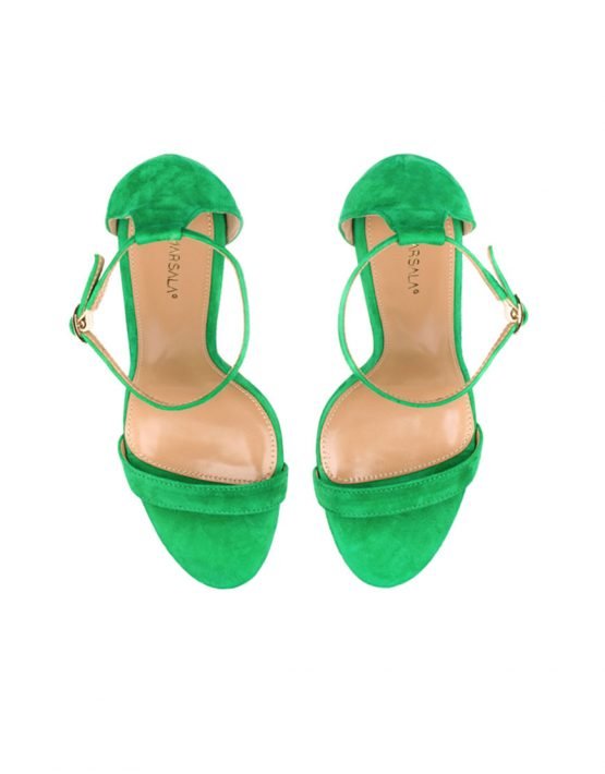 Босоножки из замши Nymph Lime Green MRSL_097801, фото 2 - в интеренет магазине KAPSULA