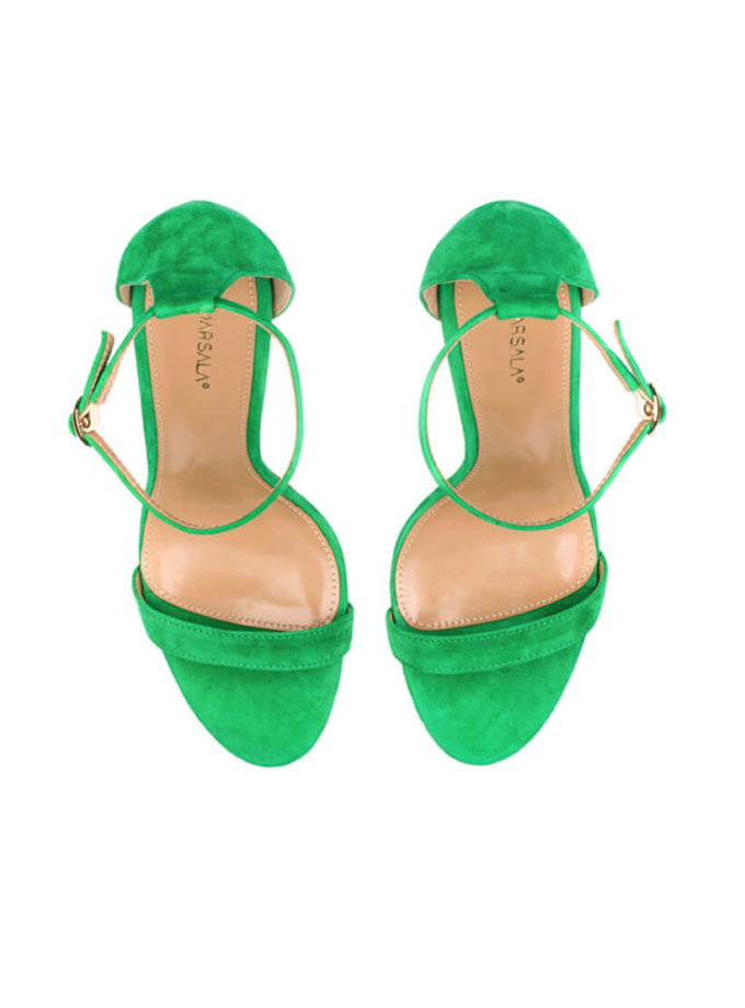 Босоножки из замши Nymph Lime Green MRSL_097801, фото 1 - в интеренет магазине KAPSULA