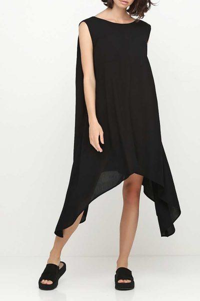 Асимметричное платье с бретелями на спине AY_SS18_2349, фото 1 - в интеренет магазине KAPSULA