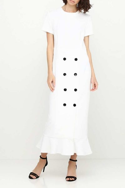 Платье макси полуприталенного силуэта AY_SS18_2357, фото 6 - в интеренет магазине KAPSULA