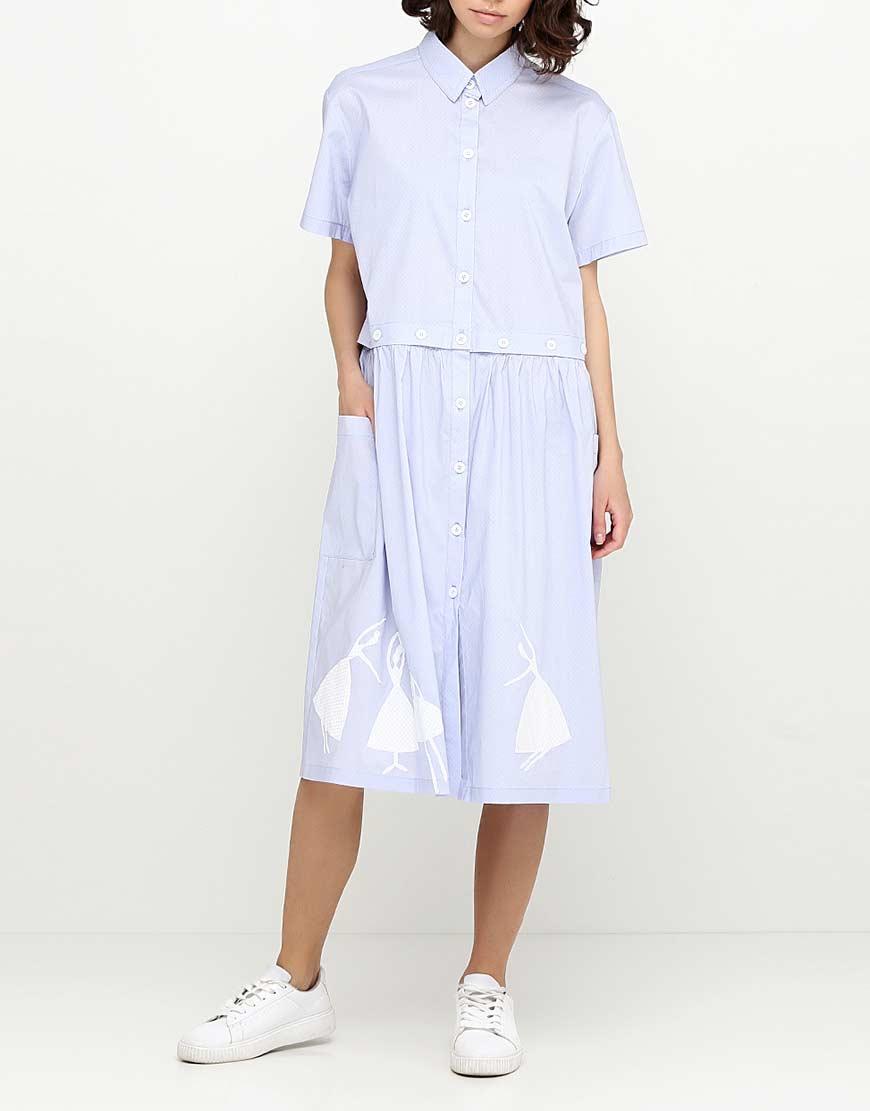 Платье рубашка из хлопка