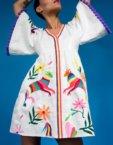 Платье А-силуэта с вышивкой цветов ZHPN_Cuba_Blue_SS18_2_01, фото 1 - в интеренет магазине KAPSULA