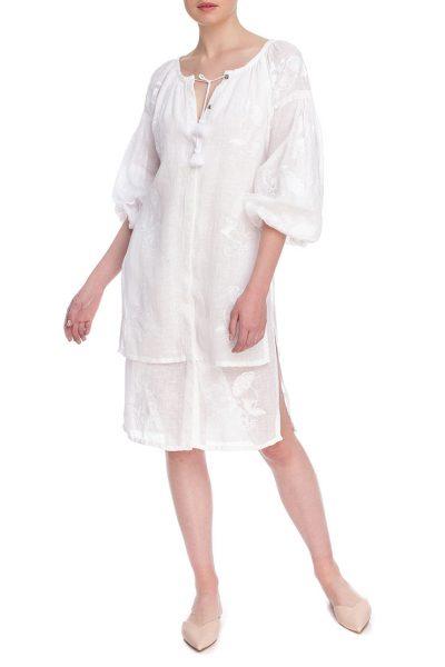 Платье вышиванка Сакура FOBERI_01171, фото 1 - в интеренет магазине KAPSULA