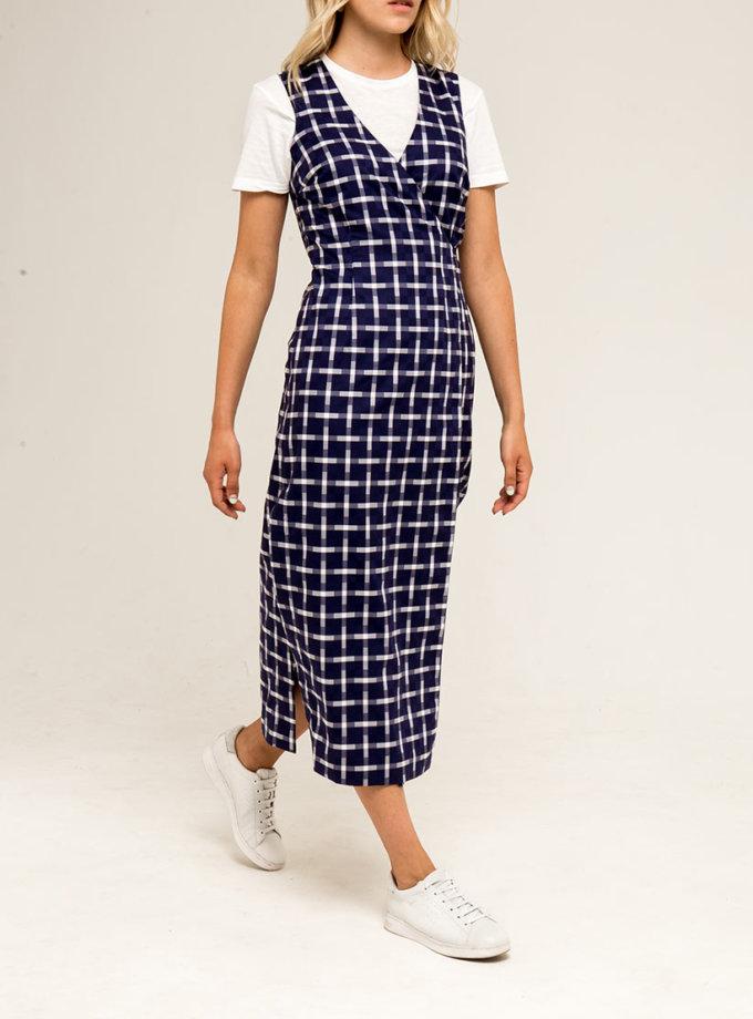 Платье-сарафан с завязками PPMT_PM-33_сage, фото 1 - в интернет магазине KAPSULA