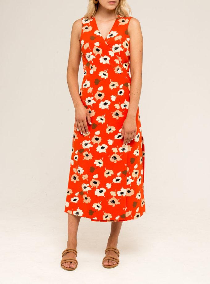 Платье-сарафан с завязками PPMT_PM-33_red, фото 1 - в интернет магазине KAPSULA