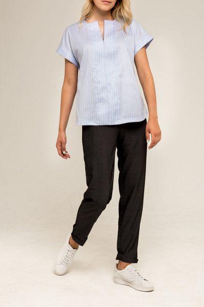 Блуза прямого кроя PPMT_PM-41_blue, фото 1 - в интеренет магазине KAPSULA