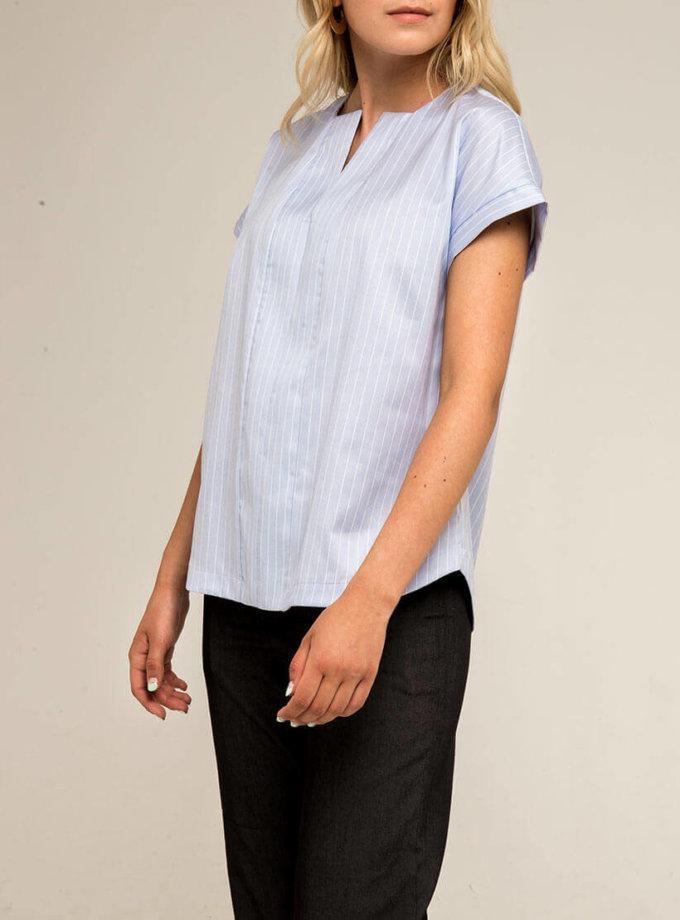 Блуза прямого кроя PPMT_PM-41_blue, фото 1 - в интернет магазине KAPSULA