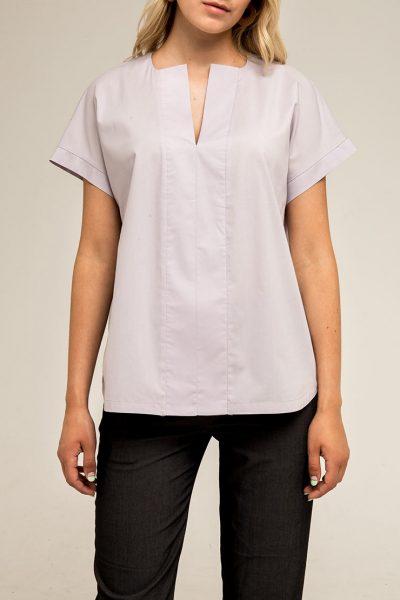 Блуза прямого кроя PPMT_PM-41_fiolet, фото 1 - в интеренет магазине KAPSULA