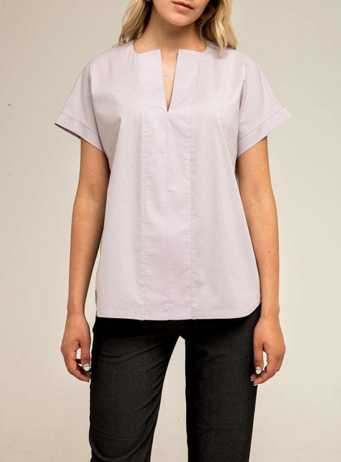 Блуза прямого кроя PPMT_PM-41_fiolet, фото 1 - в интернет магазине KAPSULA