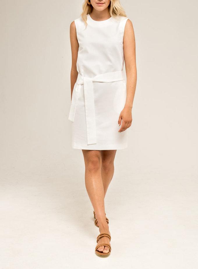 Платье на завязках PPMT_PM-42_white, фото 1 - в интернет магазине KAPSULA