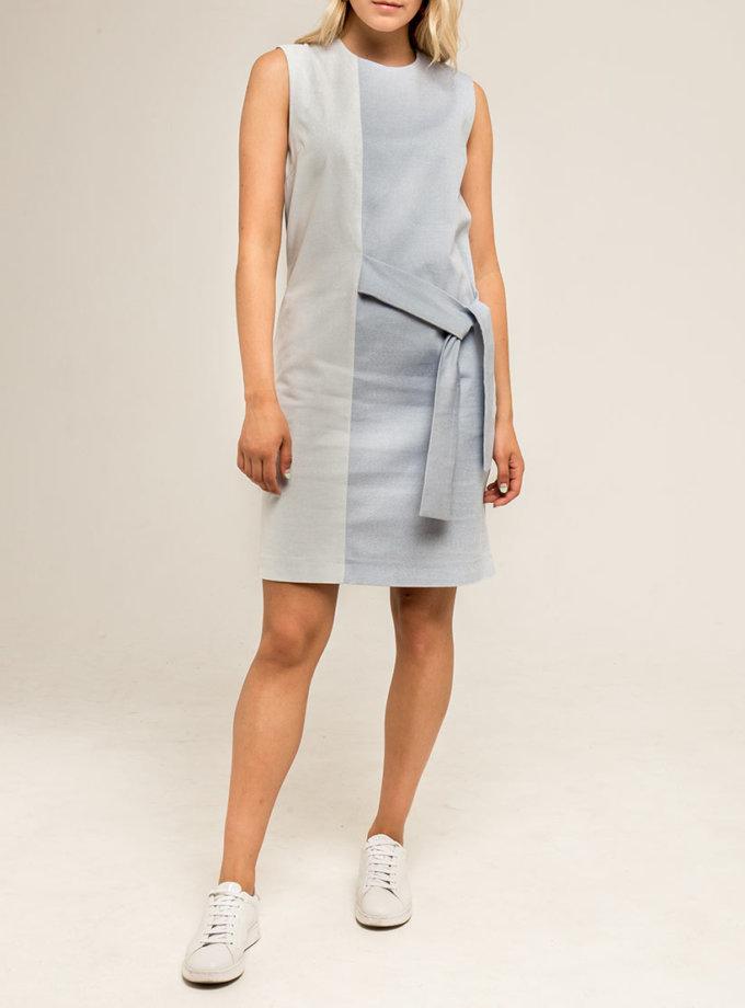 Платье на завязках PPMT_PM-43_blue, фото 1 - в интернет магазине KAPSULA