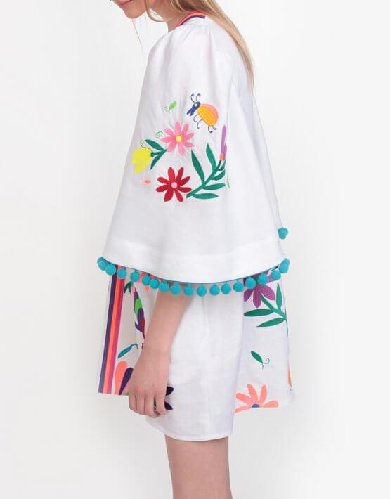Платье А-силуэта со сборками на плечах ZHPN_Cuba_FC_SS18_01, фото 5 - в интеренет магазине KAPSULA