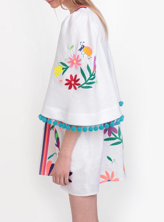 Платье А-силуэта со сборками на плечах ZHPN_Cuba_FC_SS18_01, фото 1 - в интеренет магазине KAPSULA
