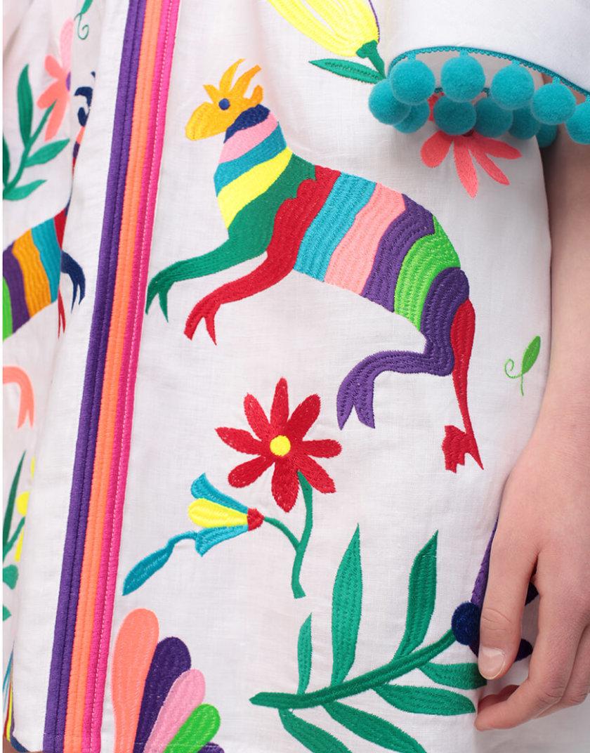 Платье А-силуэта со сборками на плечах ZHPN_Cuba_FC_SS18_01, фото 1 - в интернет магазине KAPSULA