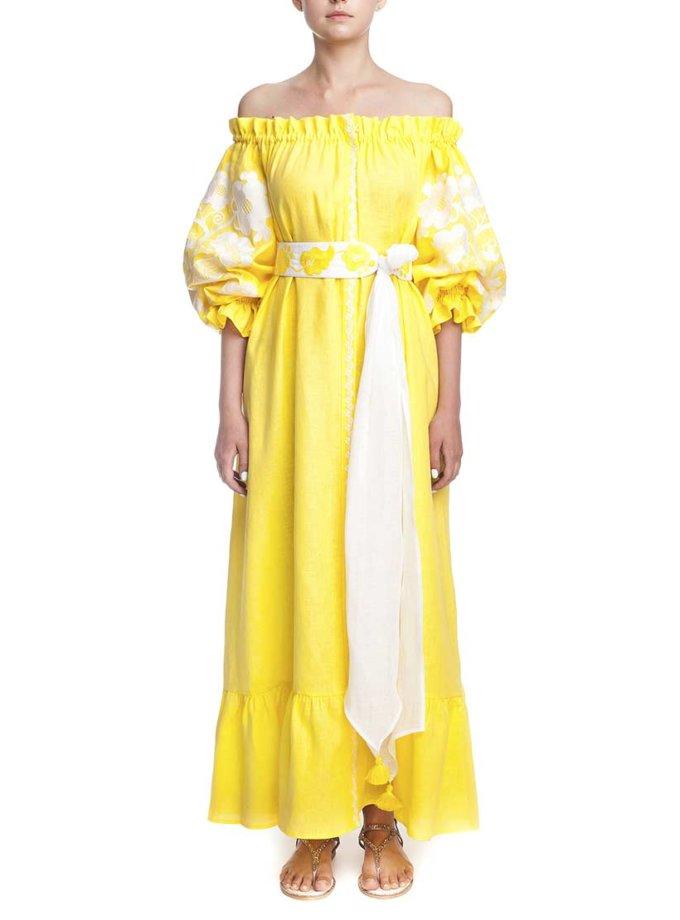 Платье вышиванка Сиеста FOBERI_01172, фото 1 - в интернет магазине KAPSULA