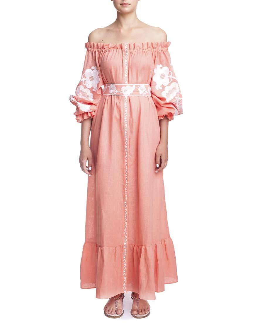Платье Абрикосовое цветение