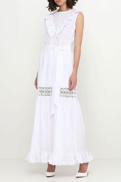 Платье с кружевом со сборками AY_SS18_2363, фото 1 - в интеренет магазине KAPSULA