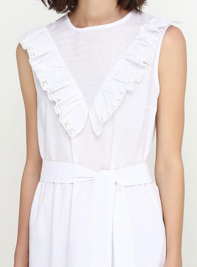 Платье с кружевом со сборками AY_SS18_2363, фото 1 - в интернет магазине KAPSULA