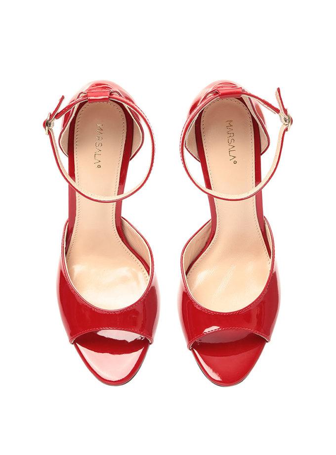 Туфли Mary Jane Frank Red из кожи MRSL_862555, фото 1 - в интеренет магазине KAPSULA